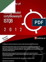 Katalog Szkoleń Certyfikowanych testerzy.pl 2012
