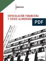 Especulación financiera y crisis alimentaria