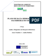 PLANO DE BACIA HIDROGRÁFICA Ribeiras do Oeste PBHRO - Análise biofísica
