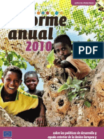 Informe 2010 Europeaid sobre las políticas de desarrollo y ayuda exterior de la Unión Europea