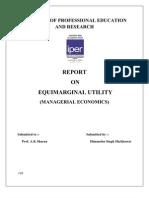 Equimarginal Utility