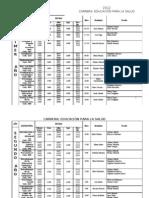 Fechas de Examen 2012 Educador Sanitario FHCSyS UNSE