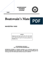 US Navy Course NAVEDTRA 14343 - Boatswain's Mate