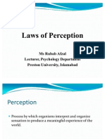 Laws of Perception