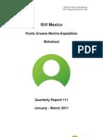 GVI Mexico Punta Gruesa January-March 2011 Quaterly Report Final
