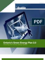 PEMBINA 2010 Ontario Green Energy Plan 2.0
