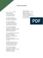 Letra de Canciomes