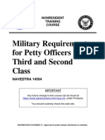 US Navy Course NAVEDTRA 14504 - Military Requirements for Petty Officers Third and Second Class