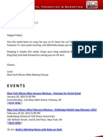 New York Silicon Alley Weekly Newsletter 13-January-2012