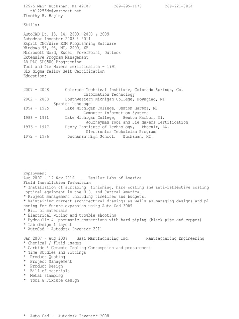 Manufacturing Engineer Or Cad Designer Drafter Auto Wiring Programming Language Computer Aided Design