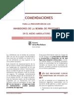 RECOMENDACIONES PARA LA PRESCRIPCIÓN DE LOS INHIBIDORES DE LA BOMBA DE PROTONES EN EL MEDIO AMBULATORIO