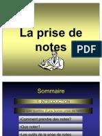 La Prise de Notes