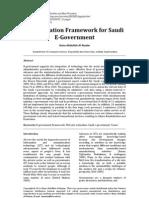 An Evaluation Framework for Saudi