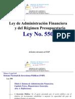 Artículos seleccionados Ley 550