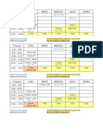 Horario Plan Lector (1º y 2º de ESO)