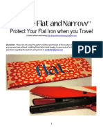 Flat Iron Bag/Pouch Sewing Tutorial and Pattern