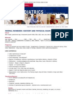 Print - Normal Newborn_ History and Physical Exam Outline