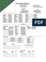 Character Sheet for V:TM - Kagehime