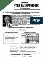 Calendario Actos apoyo a Juez Garzón