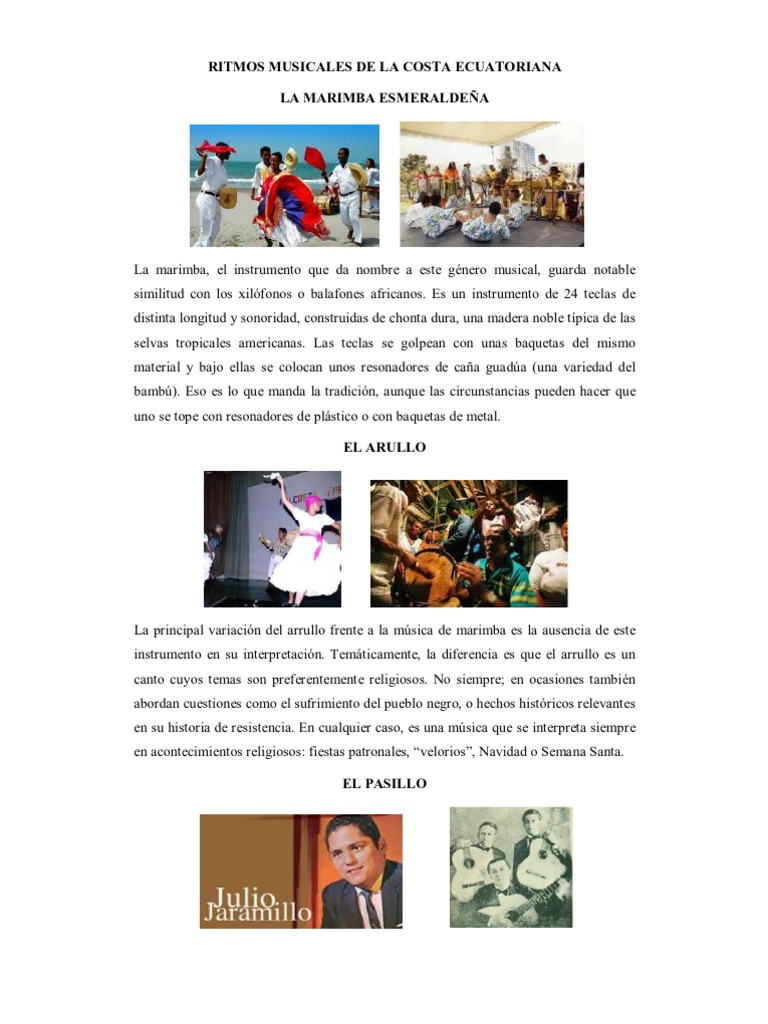 Ritmos Musicales De La Costa Ecuatoriana