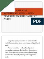 STUDY EMPIRIS ATAS KONFIRMASI AKUN – AKUN  PENERIMAAN.1