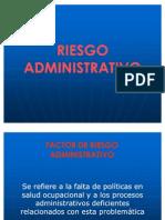 Riesgo administrativo