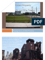 Vacant Property Issues in Buffalo and Erie County 2011 Power Point Presentation