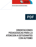 Orientaciones Pedagogic As Para Atencion de Estudiantes Con Autismo Colombia