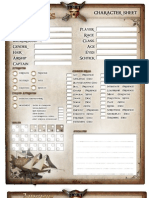 Airship Pirates Character Sheet