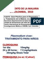 Tratamiento de La Malaria en Colombia