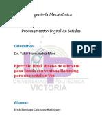 filtro fir pasabanda de una señal de voz(colchado rdz)