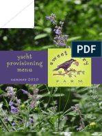 Yacht Provisioning Menu Final Draft