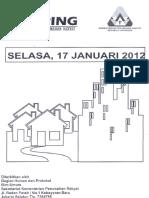 Scan Kliping Berita Perumahan Rakyat  17 Januari 2012