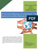 Voto en El Extranejero