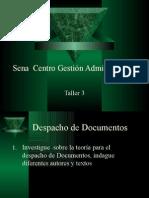 Sena Centro Gestión Administrativa Taller 3