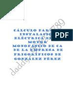 Instalacion de Un Motor Monofasico CA