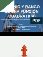 Dominio y Rango de Una FunciÓn CuadrÁtica (Version Blog)