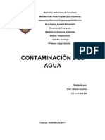 Contaminacion Del Agua Trabajo Final de Ecologia