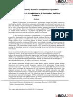 ICT Based Knowledge Resources Management in Agriculture- K. Nagasree, Dixit S., B. Venkateswarlu, K. Ravishankar and Vijay Jesudasan