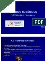 1.1 Sistemas de numeracion