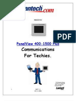 Panelview Plus 400 to 1500 Communications | Gateway
