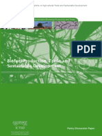 Biofuel Production, Trade and Sustainable Development