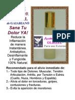 FIBROMIALGIA ACEITE SANADOR OLIEZEL de GAIARIAN® Sana Tu Dolor YA! Reduce la Inflamación de manera Instantánea. Antiséptico, Desinflamante y Fungicida. 100% Natural!
