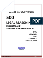 Legal Reasoning Problems for Clat 2012 and Llb Entrance From Www