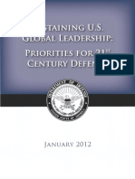 """Sustaining U.S. Global Leadership: Priorities for 21st Century Defense"""