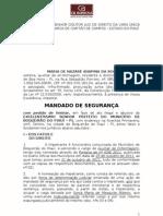 MANDADO DE SEGURANÇA - NADIR