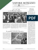 L´OSSERVATORE ROMANO. 15 Enero 2012