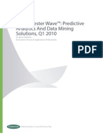 Forrester AR Wave Forrester Wave Predictive Analytics and Data Mining Solutions Q1 2010