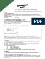 Binomial and Geometric