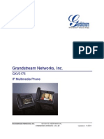 GrandStream GXV-3175 - User Manual English